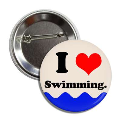i love swimming water button
