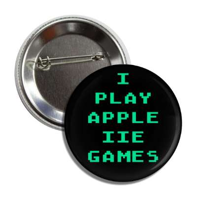 i play apple iie games button