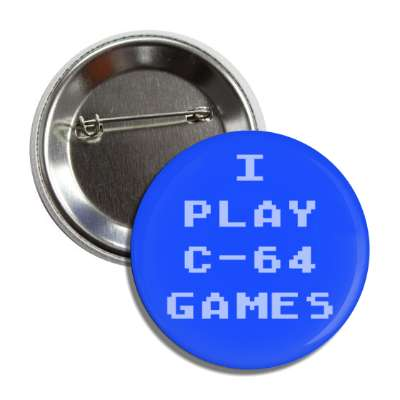 i play c-64 games commodore button