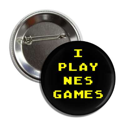 i play nes games nintendo 8bit button