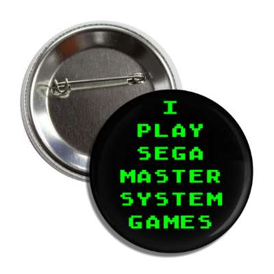 i play sega master system games button