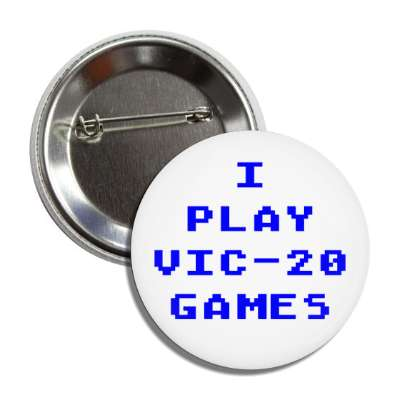 i play vic-20 games commodore button