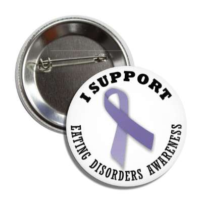 i support eating disorders purple awareness ribbon button