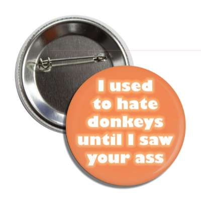 i used to hate donkeys until i saw your ass button