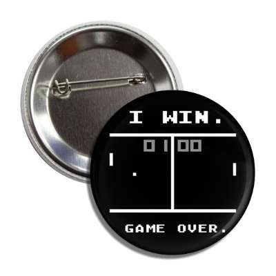 i win game over pong button