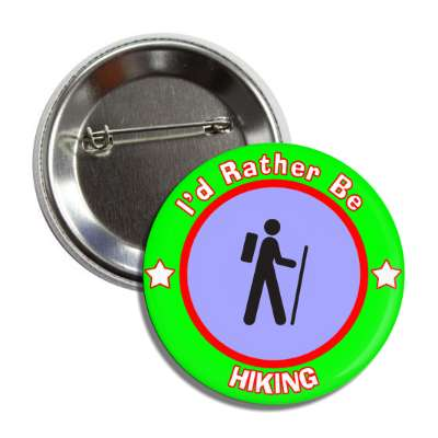 id rather be hiking green border button