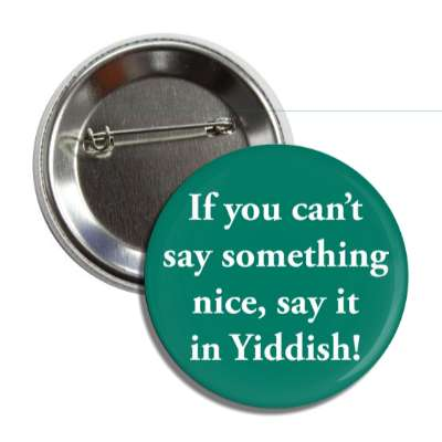if you cant say something nice say it in yiddish button