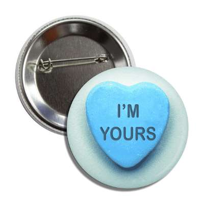 im yours valentines day heart candy blue button