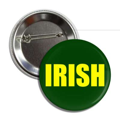 irish dark green yellow button