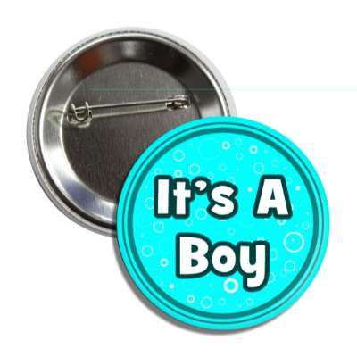 its a boy aqua circles button