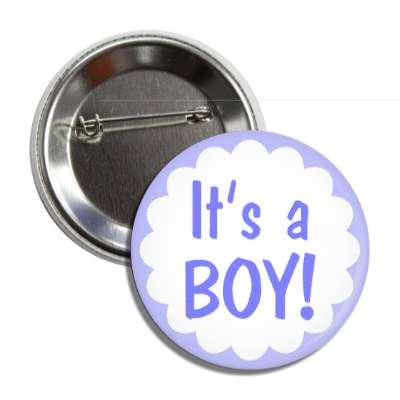 its a boy blue border button