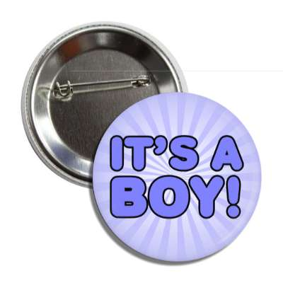 its a boy blue rays cute button