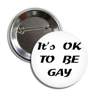 its okay to be gay button