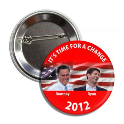 its time for a change romney ryan button