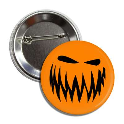jack o lantern pumpkin face angry button