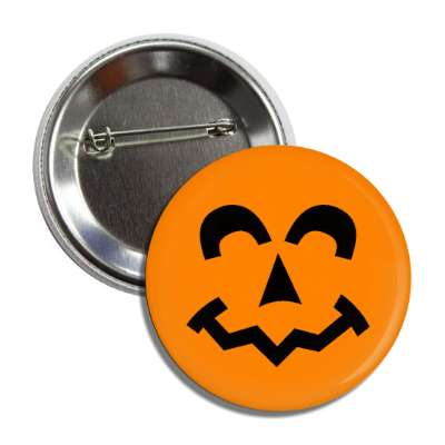 jack o lantern pumpkin face happy button