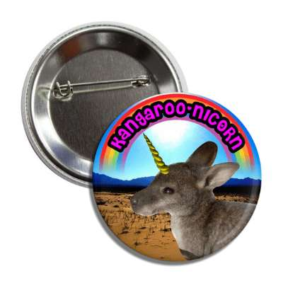 kangaroonicorn kangaroo unicorn button