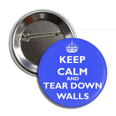 keep calm and tear down walls button