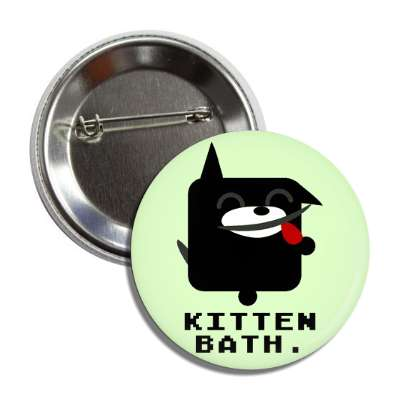 kitten bath cute cartoon button