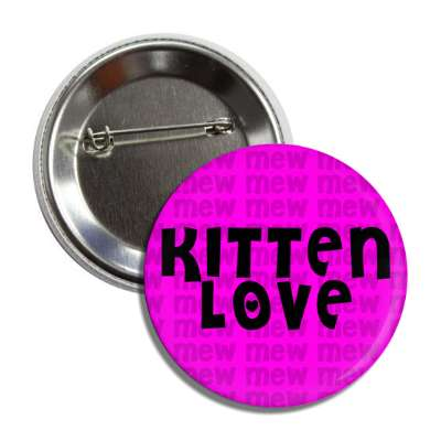 kitten love mew purple button