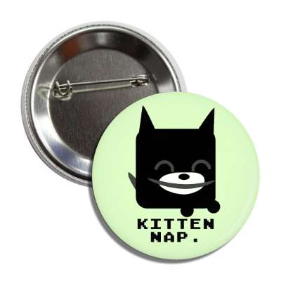 kitten nap cute cartoon button