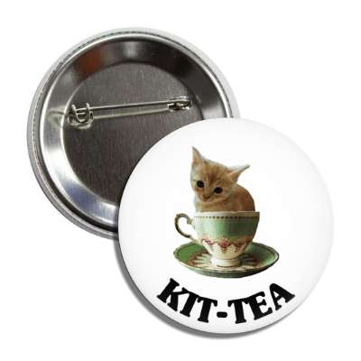 kitten teacup button