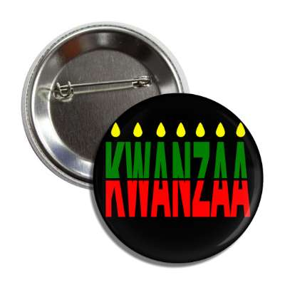 kwanzaa candles black button
