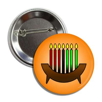 kwanzaa candles multicolor orange button