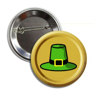 leprechaun hat gold coin button