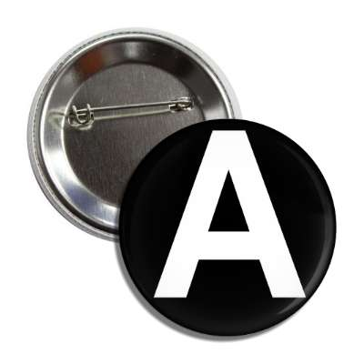 letter a capital black white button
