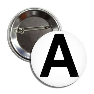 letter a capital white black button