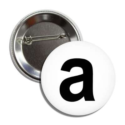 letter a lower case white black button