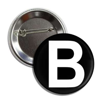 letter b capital black white button