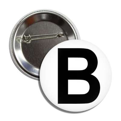 letter b capital white black button