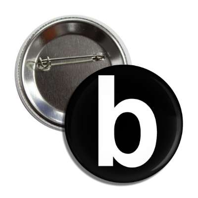 letter b lower case black white button