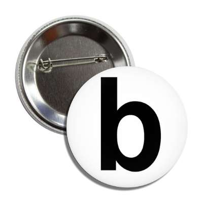 letter b lower case white black button