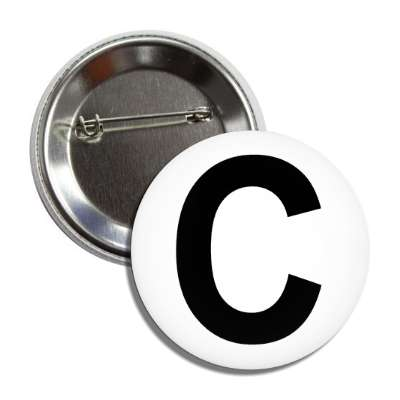 letter c capital white black button