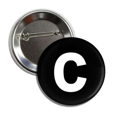 letter c lower case black white button