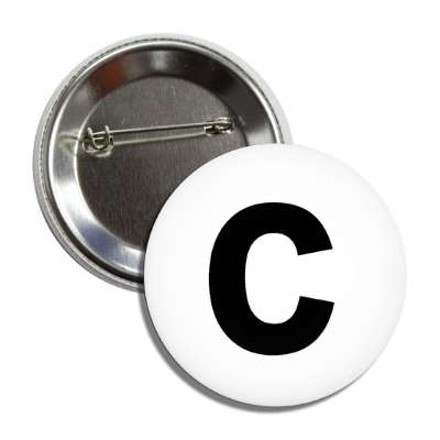 letter c lower case white black button