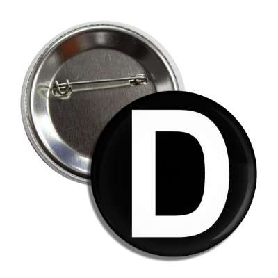 letter d capital black white button