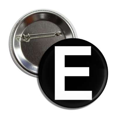 letter e capital black white button