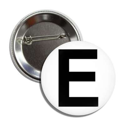 letter e capital white black button
