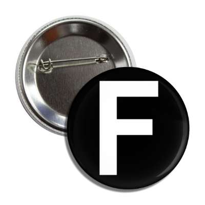 letter f capital black white button