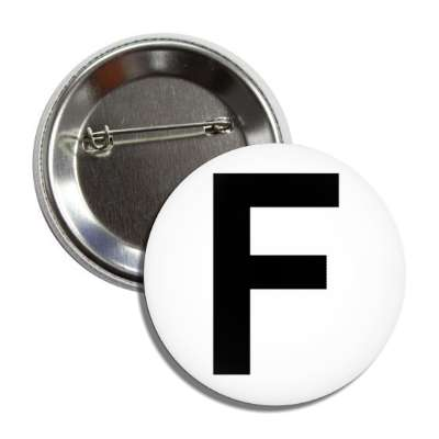 letter f capital white black button