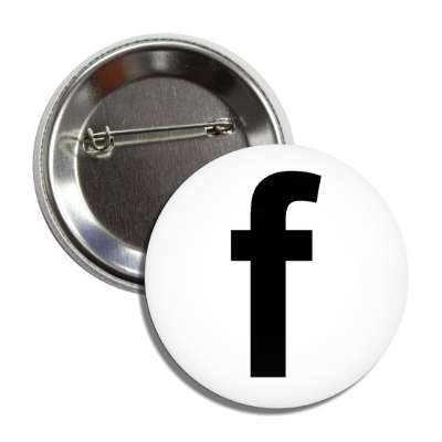 letter f lower case white black button