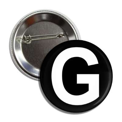 letter g capital black white button