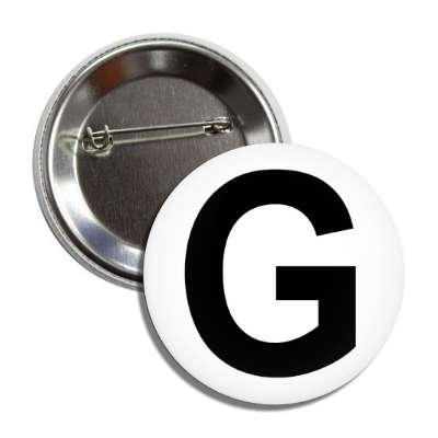 letter g capital white black button