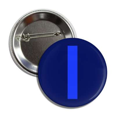 letter i capital blue button