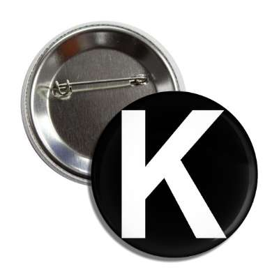 letter k capital black white button