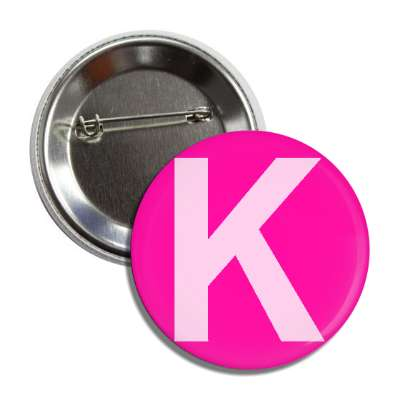 letter k capital pink button